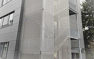Metalltreppe Aufgang Außen Großprojekt