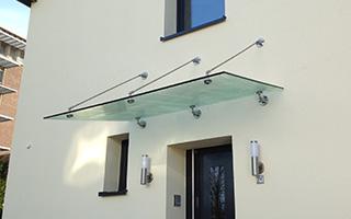 Vordach Metall Glas Metallbauer Heinsberg